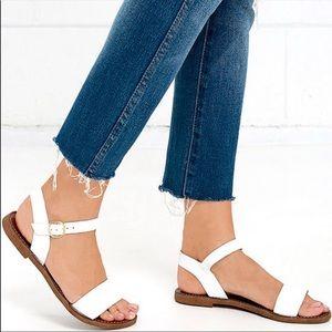 Steve madden Dairr Sandals white leather
